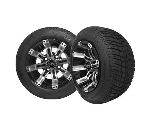 OCTANE 10'' Machined/Black Wheel with 205/50-10 Viper LP Tire
