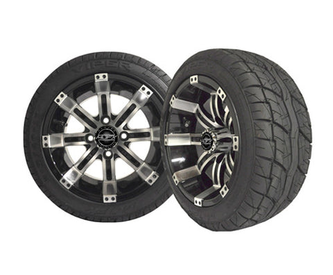 OCTANE 12'' Machined/Black Wheel with 215/40-12 Viper LP Tire