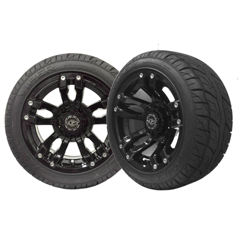 "VELOCITY 12"" Black Wheel with 215/40-12 Viper Street Tire"