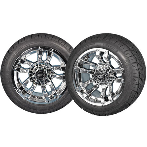 "VELOCITY 12"" Chrome Wheel with 215/40-12 Viper Street Tire"