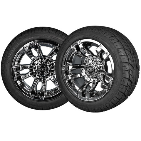 "VELOCITY 12"" Black Chrome with 215/40-12 Viper Street Tire"