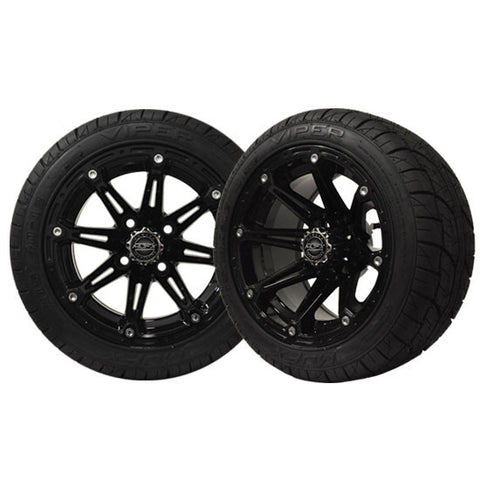 ELEMENT 12'' Black Wheel with 215/40-12 Viper Street Tire Madjax