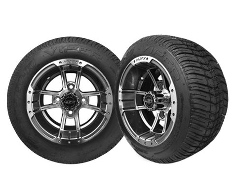 APEX 10'' Machined/Black Wheel with 205/50-10 Viper LP Tire Madjax