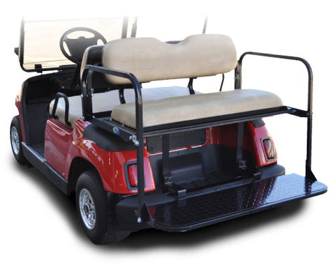 Rear Flip Seat with Tan Cushion. Will Fit Yamaha® G-Series™ Golf Carts.