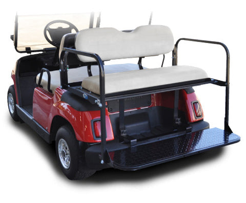 Rear Flip Seat with Ivory Cushion. Will fit Yamaha® G-Series™ Golf Carts.