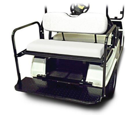 Rear Flip Seat with White Cushion. Will fit Club Car® DS™ Golf Carts.