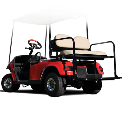 Rear Flip Seat with Tan Cushion. Will fit E-Z-GO® TXT® Golf Carts.