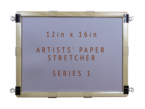 12in x 16in Artists' Paper Stretcher for Watercolour - Series 1