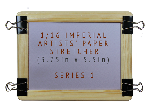 1/16 Imperial Artists' Paper Stretcher for Watercolour - Series 1 (3.75in x 5.5in)