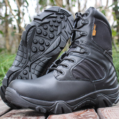 WINTER LEATHER COMBAT BOOTS