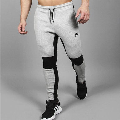 GREY AND BLACK JOGGER PANTS