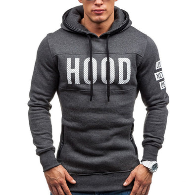 HOOD LETTER COTTON HOODIE