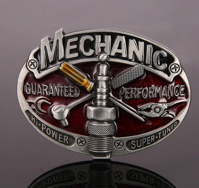RETRO MECHANIC BELT BUCKLE