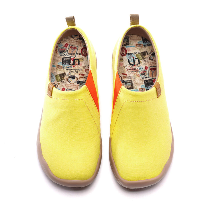 -Toledo Limone Giallo- Slip-on in Tela Scarpe da Donna