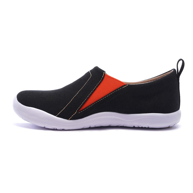 -Toledo Nero- Slip-on in Tela Scarpe da Unisex