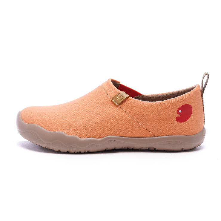 -Toledo Arancia- Slip-on in Tela Scarpe da Donna