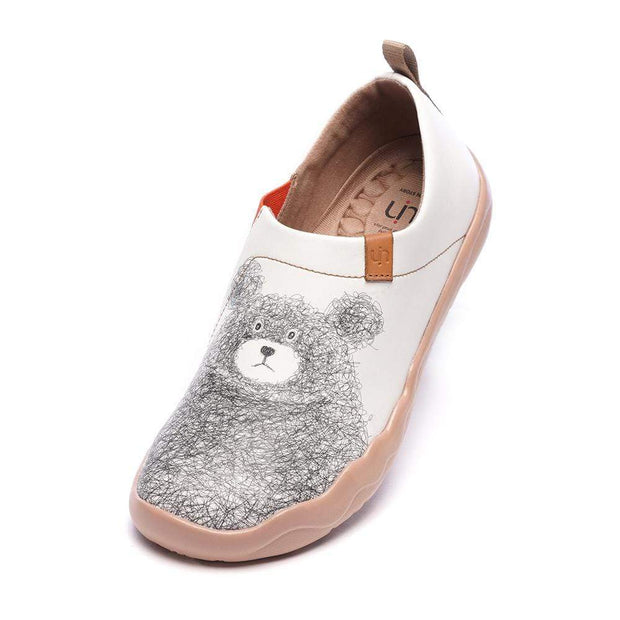 UIN Footwear Men Be with You Men Bear Painted Flats Canvas loafers