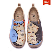 UIN Footwear Men Croissant Paths Canvas loafers