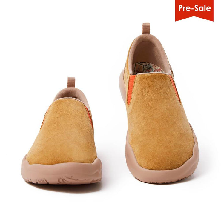 UIN Footwear Men (Pre-sale) Cuenca Khaki Cow Suede Men Canvas loafers