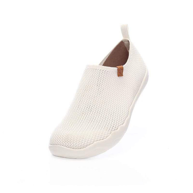 UIN Footwear Men Toledo-U KNIT White Canvas loafers