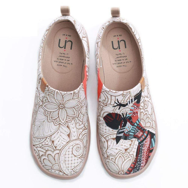UIN Footwear Women Black Pearl Exotic Style Women Canvas Shoes Canvas loafers