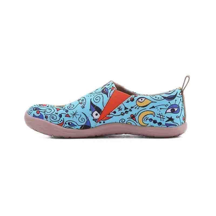 UIN Footwear Women Blue Ocean Canvas loafers