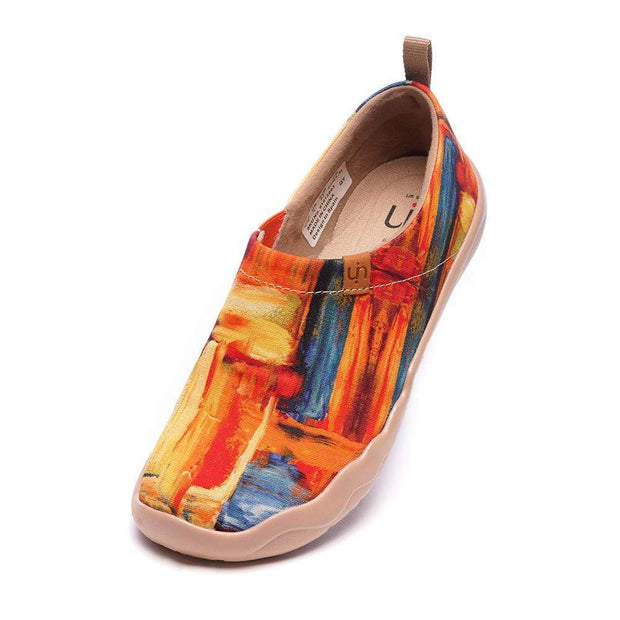 UIN Footwear Women Color Brush Artist Canvas Loafers for Women Canvas loafers