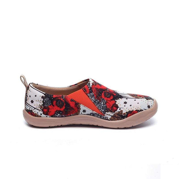 UIN Footwear Women Dazzling Papaver Canvas loafers