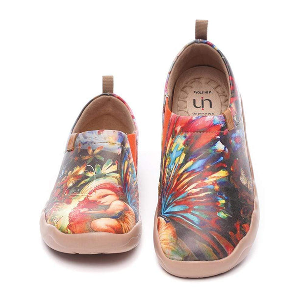 UIN Footwear Women Dreaming Butterfly Fairy Canvas loafers
