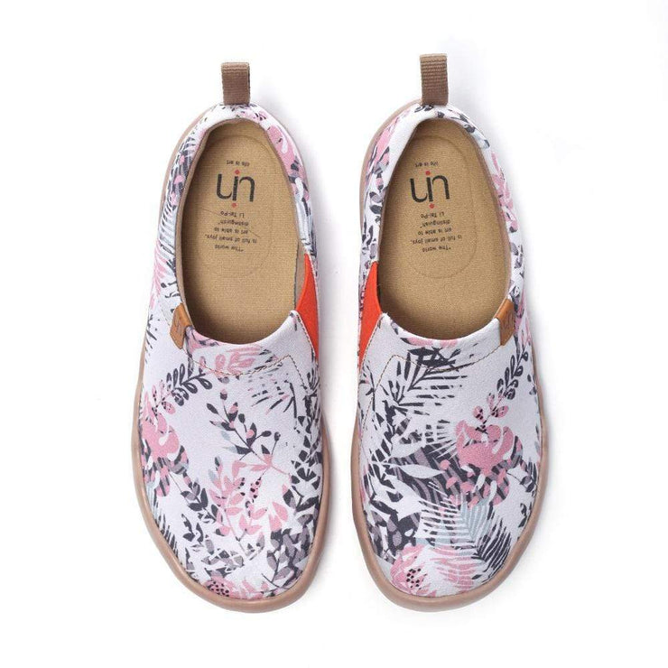 UIN Footwear Women Flora in March Painted Shoes for Ladies Canvas loafers