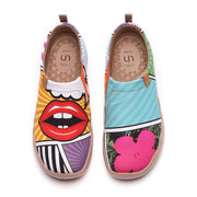 UIN Footwear Women -Kiss On the Chic- Pop Art Female Casual Shoes Canvas loafers