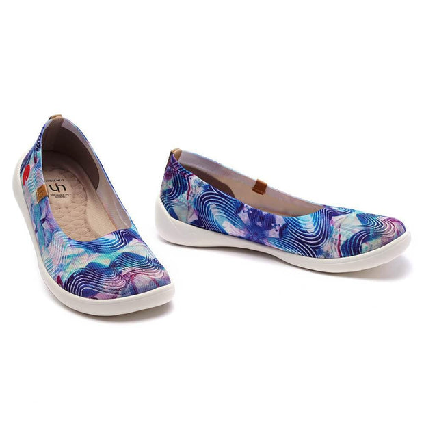 UIN Footwear Women Music Wave Canvas loafers