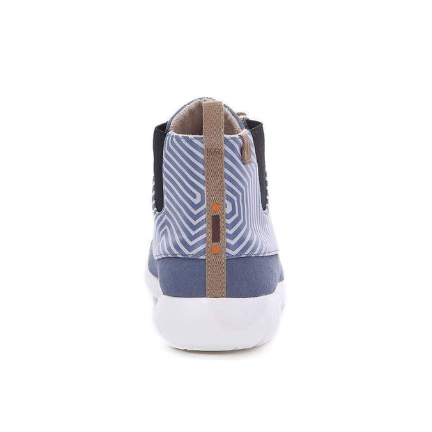 UIN Footwear Women Perth Blue Canvas loafers