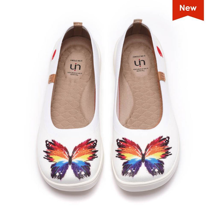 UIN Footwear Women Sparkling Butterflies Canvas loafers