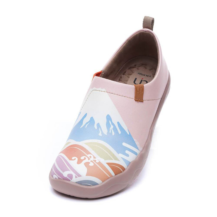 UIN Footwear Women -Spring in Mount Fuji- Women Art Painted Flat Shoes Canvas loafers