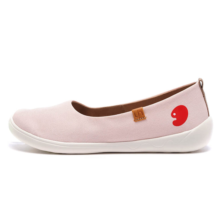 UIN Footwear Women Valencia Canvas Pink Canvas loafers