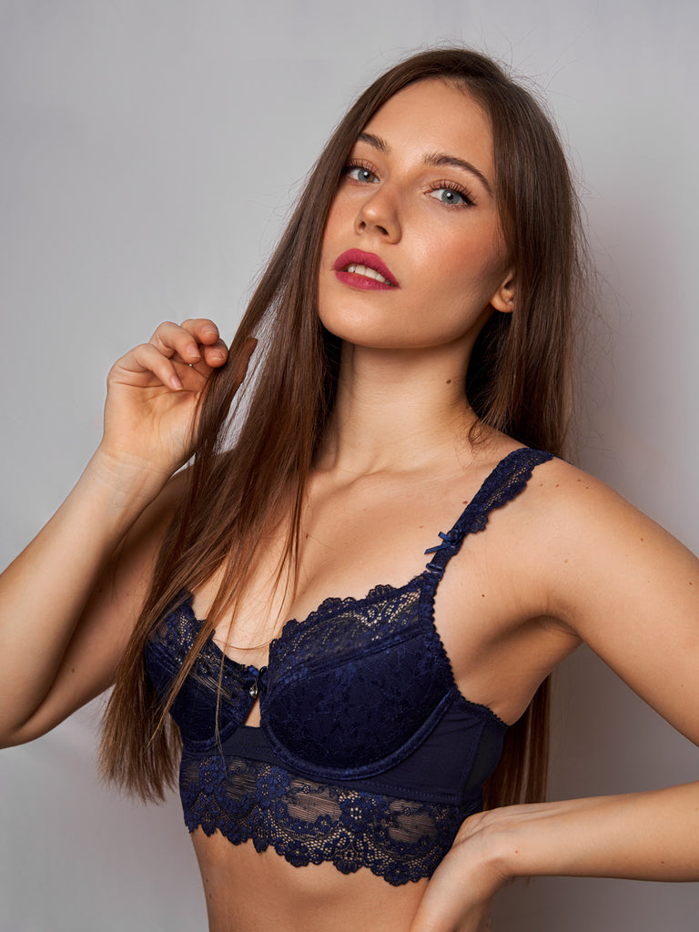 Blue Poppy Bra