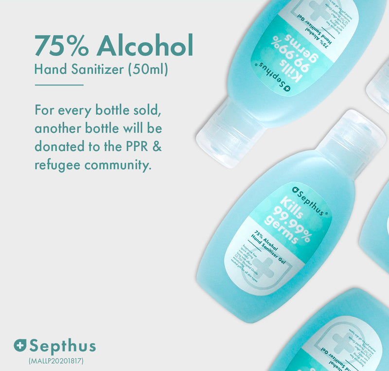 75% Alcohol Hand Sanitiser 50ml (2 bottles)
