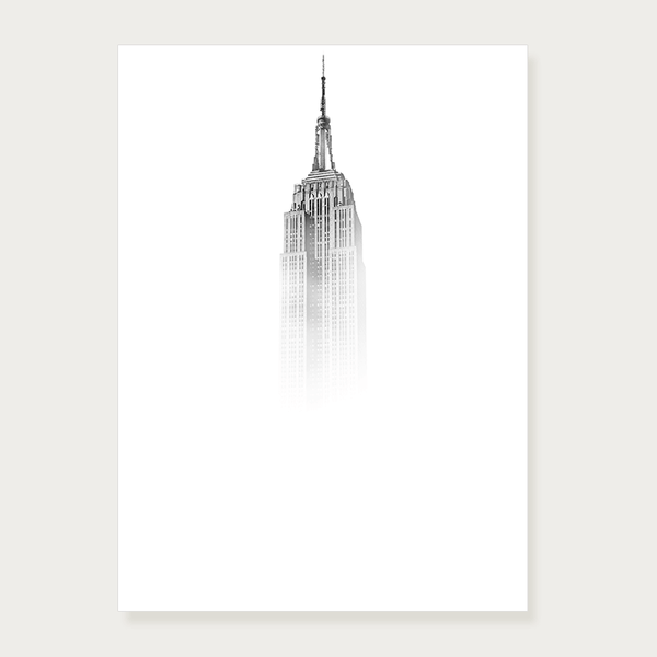 Plakat empire State Building we mgle