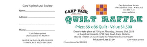 Quilt Raffle Ticket