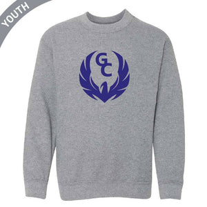 Youth Printed Crewneck - Circle Logo
