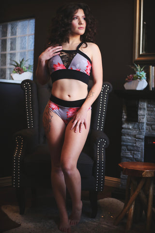 Lotus Bra and Panty Set
