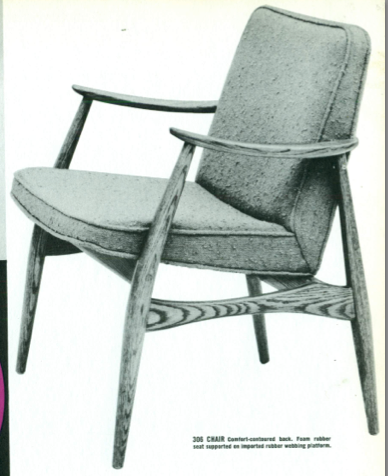 Lawrence Peabody Dining Chair Model 306 for Nemschoff: The Peabody Collection