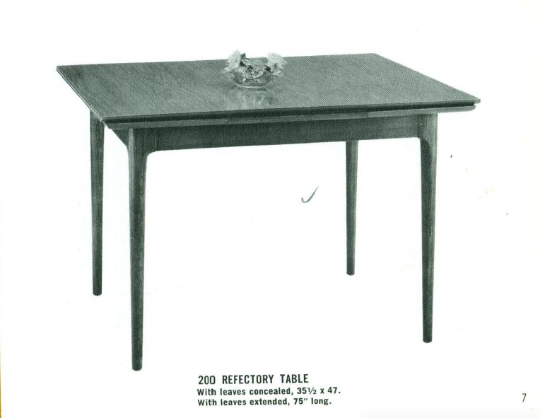 Lawrence Peabody Dining Table Model 200 for Richardson Brothers / The Peabody Collection