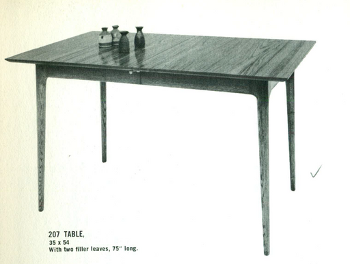 Lawrence Peabody Dining Table Model 207 for Richardson Brothers / The Peabody Collection