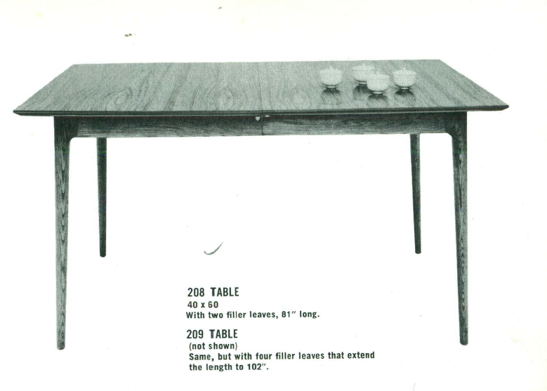 Lawrence Peabody Dining Table Model 208 for Richardson Brothers / The Peabody Collection