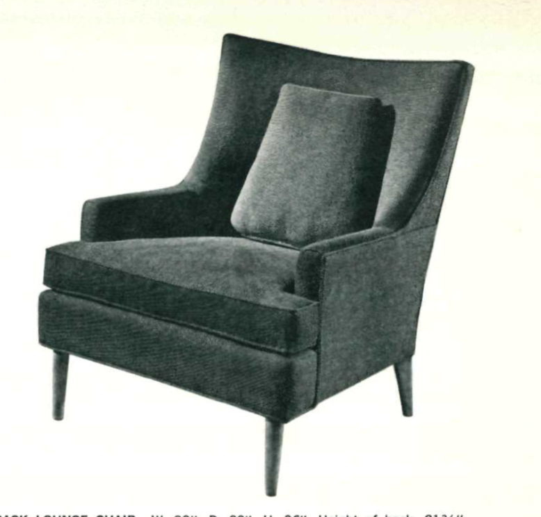 Lawrence Peabody High Back Lounge Chair Model 9203 for Nemschoff : Peabody Collection