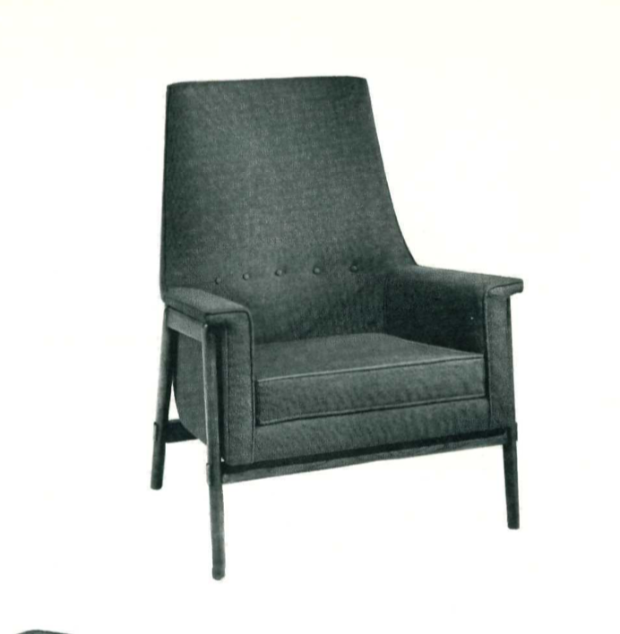 Lawrence Peabody High-Back Lounge Chair Model 9206 for Nemschoff : Peabody Collection