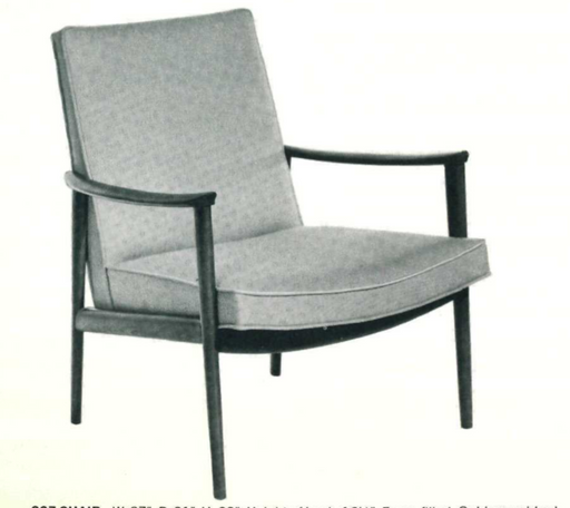 Lawrence Peabody Lounge Chair Model 907 For Nemschoff: Peabody Collection