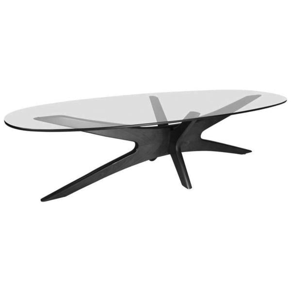 Adrian Pearsall Oval Coffee Table 893-TGO for Craft Associates Inc.